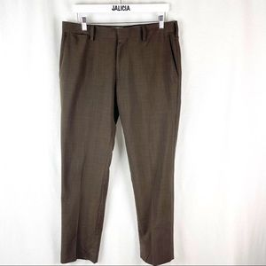 Louis Raphael Tailored Brown Men's Dress Pants